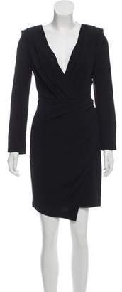 Saint Laurent Structured Long Sleeve Dress