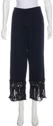 Calypso Mid-Rise Crochet Pants