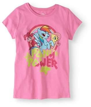 "My Little Pony Girls' ""Pony Power"" Graphic T-Shirt"