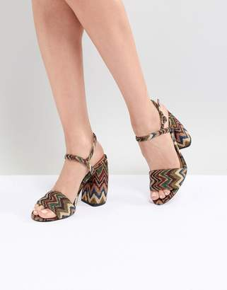 Asos Design DESIGN Hamish Woven Heeled Sandals