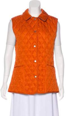 Burberry Quilted Collar Vest