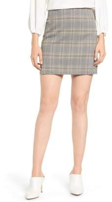 1 STATE 1.STATE Menswear Plaid Miniskirt