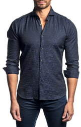 Jared Lang Slim Fit Seersucker Button-Up Sport Shirt