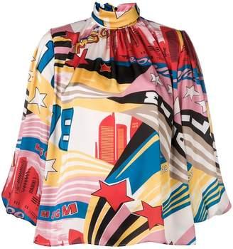 MSGM turtleneck 3/4 sleeve blouse