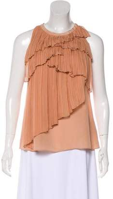 Vionnet Ruffled Sleeveless Top w/ Tags