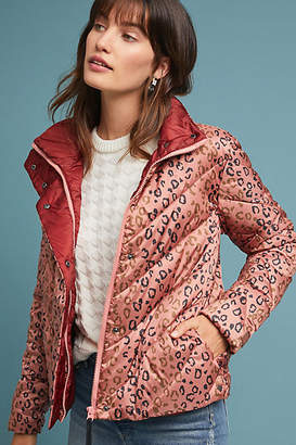 Scotch & Soda Quilted Leopard Puffer Jacket