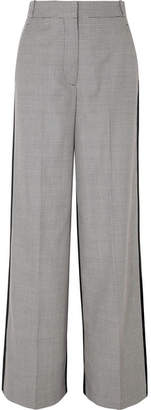 Stella McCartney Reine Houndstooth Wool-tweed And Silk-twill Pants - Gray