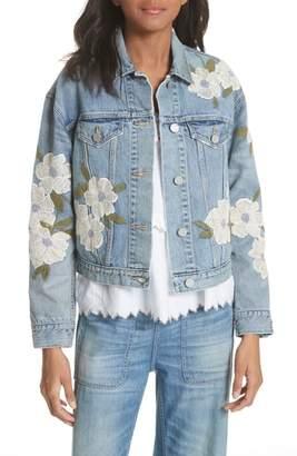 Rebecca Taylor Embroidered Denim Jacket