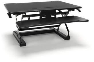 OFM Adjustable Desktop Riser with Keyboard Tray Black