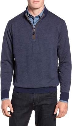 Peter Millar Needle Stripe Quarter Zip Sweater