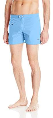 Parke & Ronen Men's Lido Solid 5 inch Swim Short