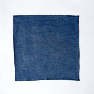 Blade + Blue Solid Blue Denim Pocket Square