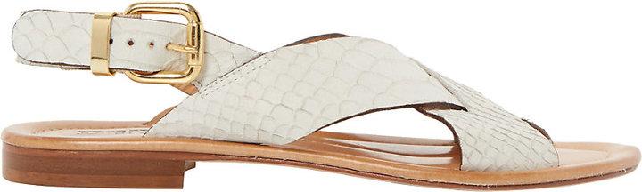 Dune Black Lois Flat Sandals