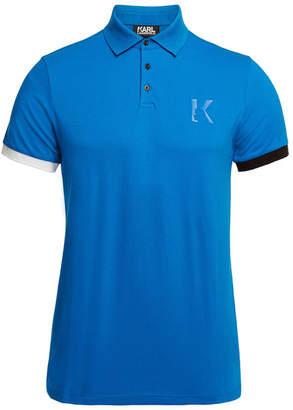 Karl Lagerfeld Cotton Polo T-Shirt