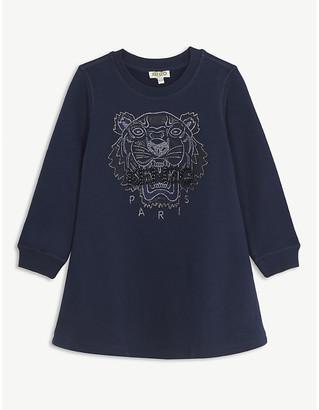 Kenzo Beaded logo cotton sweater dress 4-14 years