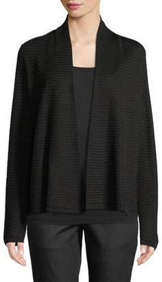 Eileen Fisher Open-Front Simple Cardigan