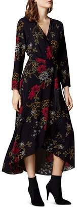 Karen Millen Tiger Print Wrap Dress