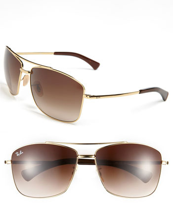 Ray-Ban 63mm Aviator Sunglasses