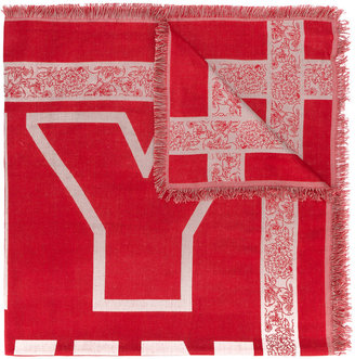 Twin-Set typography fringed scarf $76.48 thestylecure.com