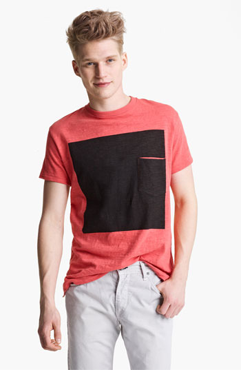 Rag and Bone rag & bone Square Print Graphic T-Shirt Spiced Coral X-Large