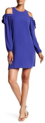 Charles Henry Cold Shoulder Shift Dress $88 thestylecure.com