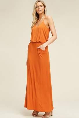 Compendium boutique Orange Maxi W/pockets
