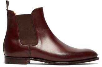 Crockett Jones Hillier Bartley - X Crockett & Jones Bonnie Leather Chelsea Boots - Womens - Burgundy