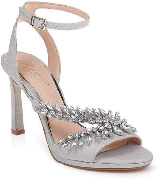 Badgley Mischka Kaira Crystal Embellished Ankle Strap Sandal (Women)