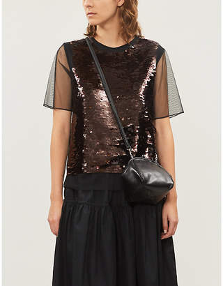 McQ Sequinned mesh top