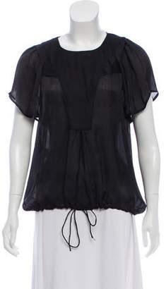 Christian Wijnants Silk Short Sleeve Blouse