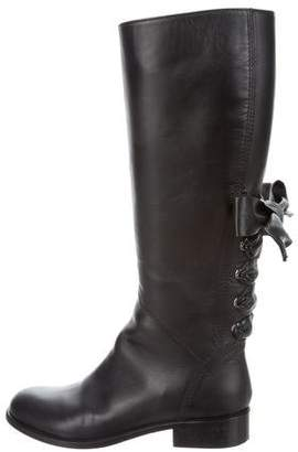 Valentino Ascot Leather Riding Boots