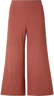 calé - Gigi Ribbed Stretch-knit Culottes - Antique rose