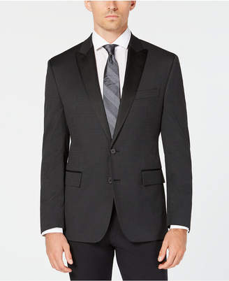 Ryan Seacrest Distinction Men Modern-Fit Stretch Black Houndstooth Dinner Jacket