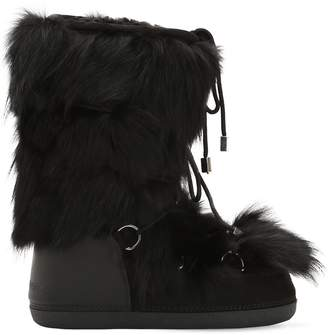DSQUARED2 Fox Fur Snow Boots