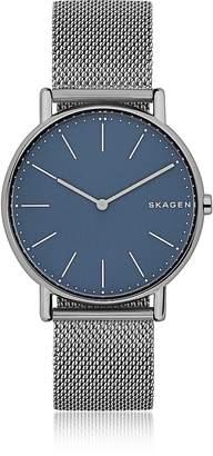 Skagen Signatur Slim Titanium and Steel-Mesh Men's Watch