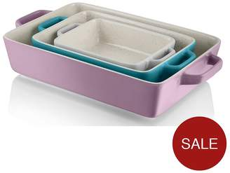 Swan Fearne By Set Of 3 Rectangular Oven Dishes