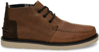 Toms Waterproof Brown Leather Men's Chukka Boots