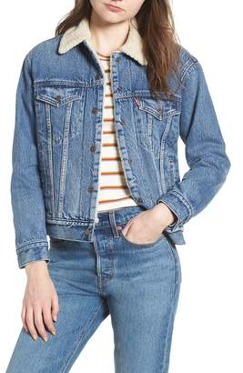 Levi's Ex-Boyfriend Fleece Lined Denim Jacket
