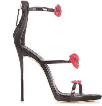 Giuseppe Zanotti Design Mouth Crystal Sandals