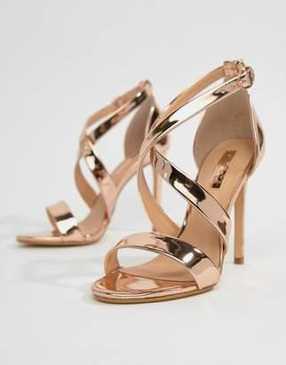 Office Harper Rose Gold Strappy Heeled Sandals