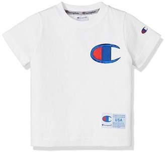 Champion (チャンピオン) - [チャンピオン] ビッグCロゴTシャツ CS4562 ボーイズ ホワイト 日本 140 (日本サイズ140 相当)