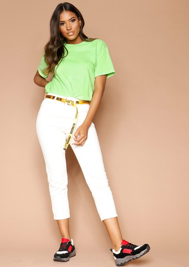 Missyempire Marisa White Cropped Jeans