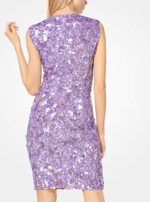 Michael Kors Floral Sequined Stretch-Tulle Dress