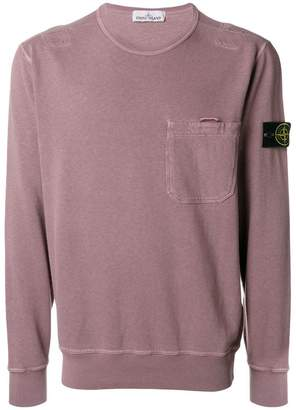 Stone Island logo long-sleeve sweatshirt