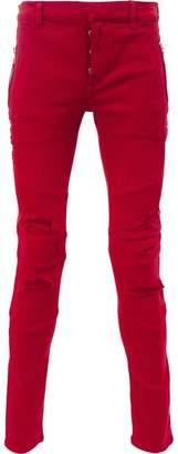 Balmain ripped skinny jeans