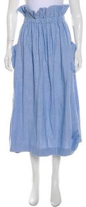 Mara Hoffman Ruched Midi Skirt