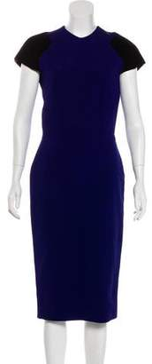 Victoria Beckham Short Sleeve Midi Dress