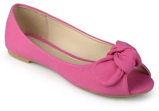 Generic Brinley Kids Little Girl Knot Bow Peep Toe Canvas Flats