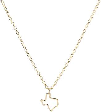 Kris Nations Texas Outline Charm Necklace