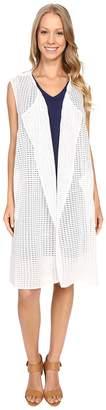 Nic+Zoe Draped Grid Vest Women's Vest
